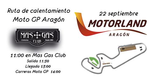 RUTA DE CALENTAMIENTO MOTO GP ARAGÓN